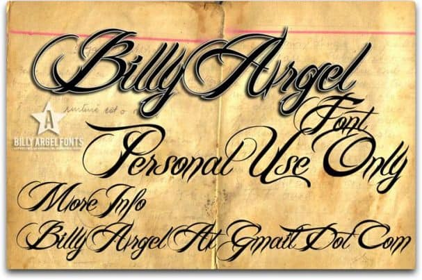 Download Billy Argel font (typeface)