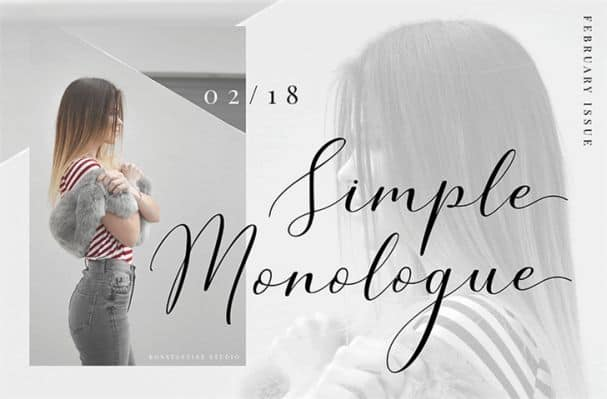 Download Simple Monologue font (typeface)
