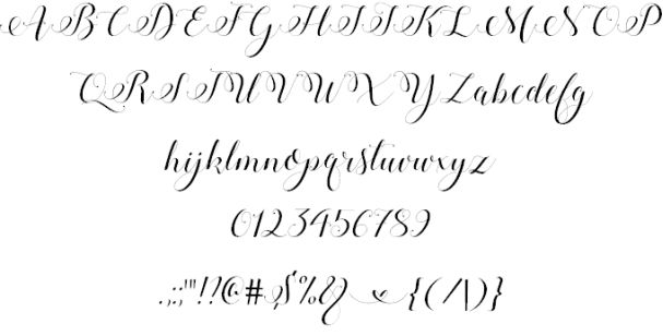 Download Stylish Calligraphy font (typeface)