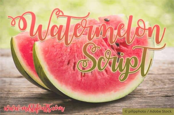 Download Watermelon Script font (typeface)