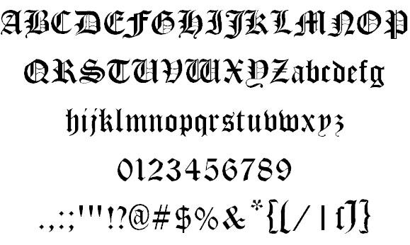 Download Cloister Black font (typeface)