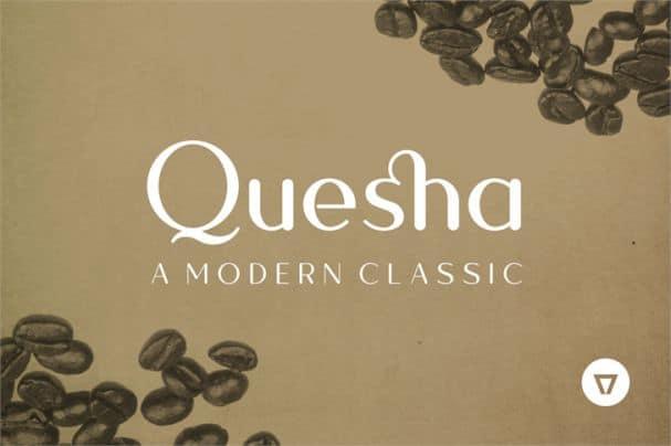 Download Quesha font (typeface)