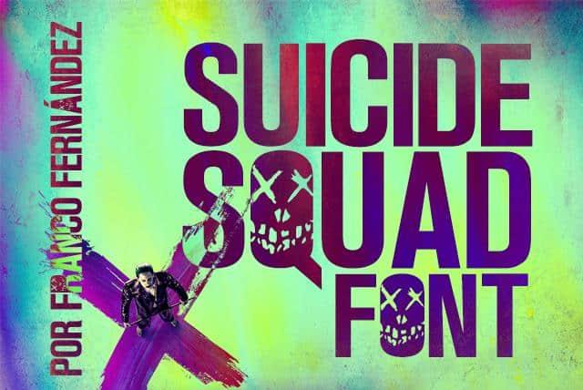 Download Suicide Squad font (typeface)