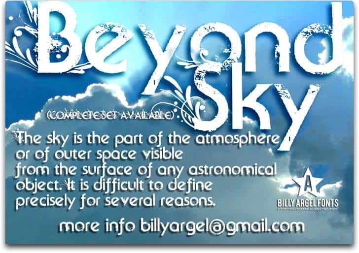 Download Beyond Sky font (typeface)