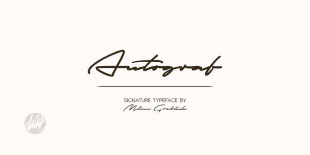 Download Autograf font (typeface)
