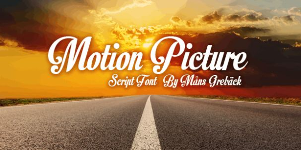 Download Motion Picture font (typeface)