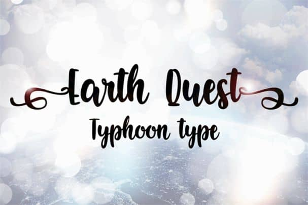 Download Earth Quest font (typeface)