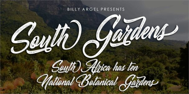 Download South Gardens font (typeface)