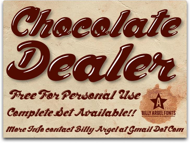 Download Chocolate Dealer font (typeface)