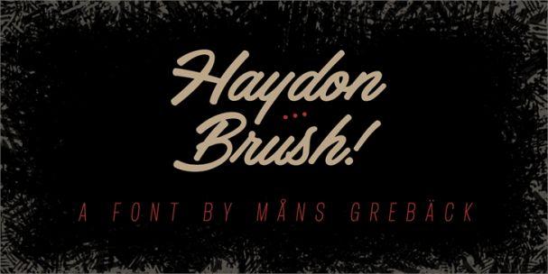 Download Haydon Brush font (typeface)