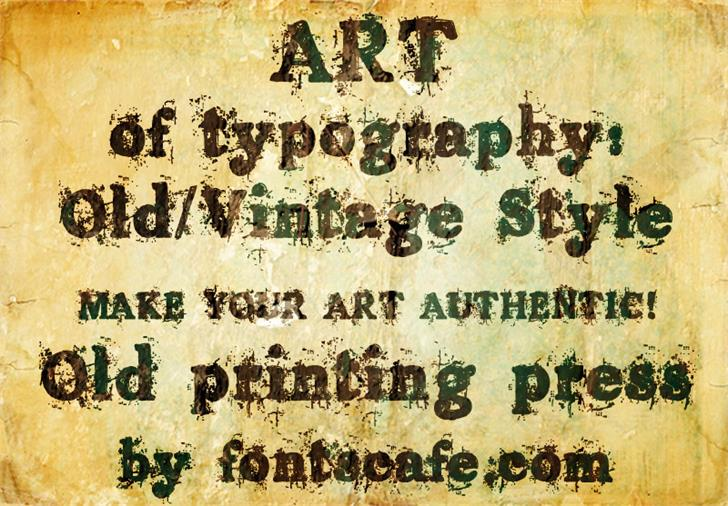Download Old printing press font (typeface)