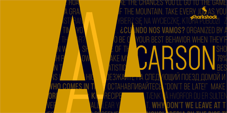 Download Carson font (typeface)