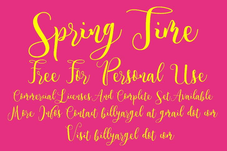 Download Spring Time font (typeface)