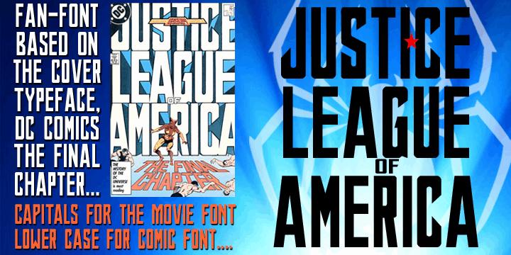 Download JUSTICE LEAGUE font (typeface)