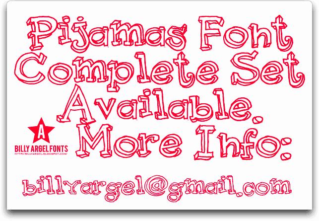 Download Pijamas font (typeface)