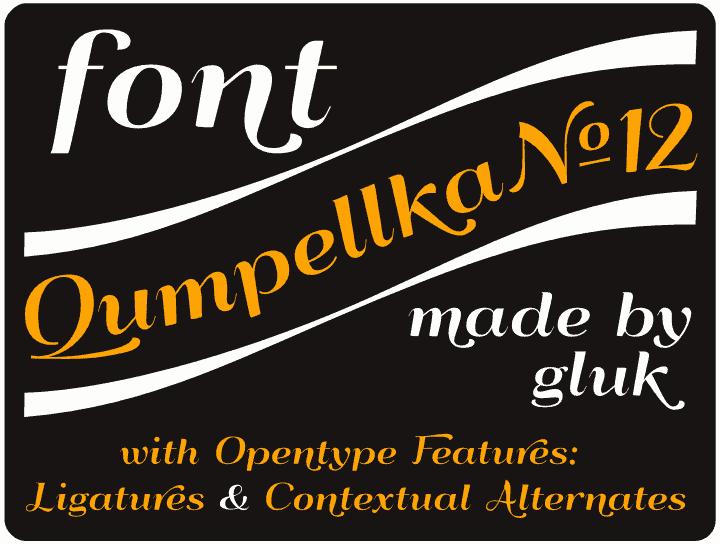 Download Qumpellka № 12 font (typeface)
