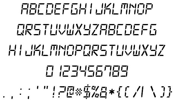 Download Digital-7 font (typeface)