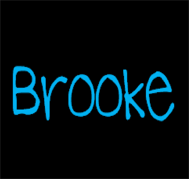 Download Brooke Shappell 8 font (typeface)