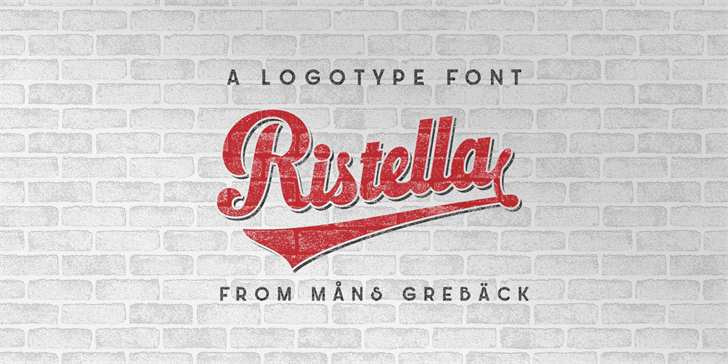 Download Ristella font (typeface)