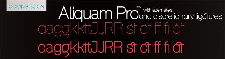 Download Aliquam font (typeface)