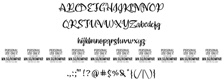 Download Kompar Medium font (typeface)