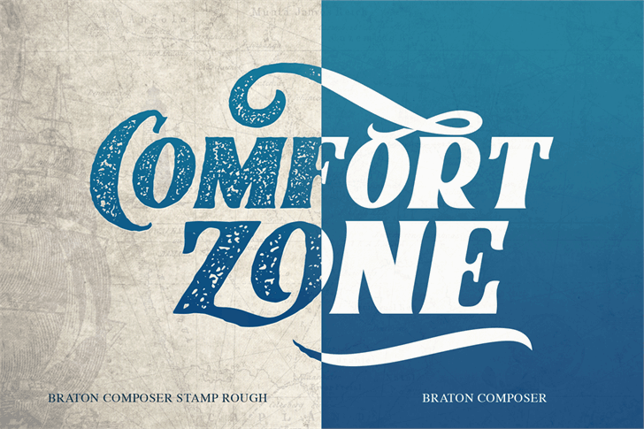 Download Braton Composer Stamp Rough font (typeface)