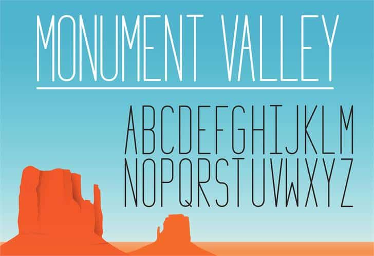 Download Monument Valley 1.2 font (typeface)