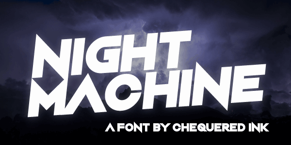 Download Night Machine font (typeface)