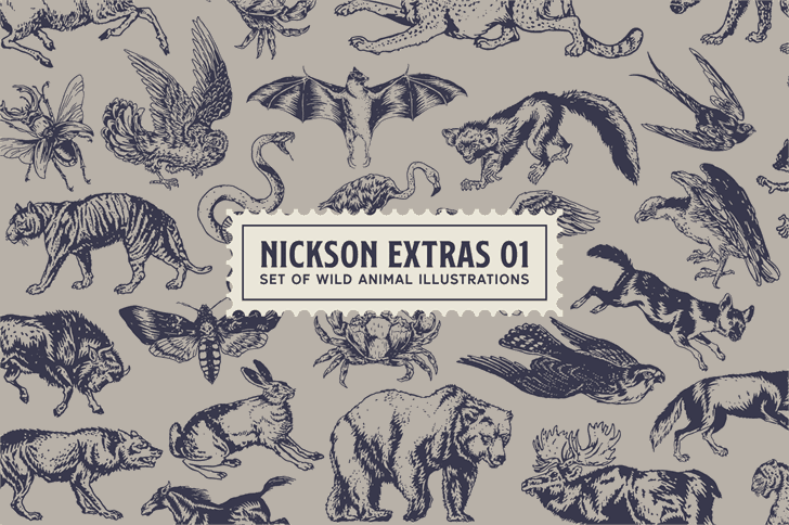 Download SS Nickson One font (typeface)