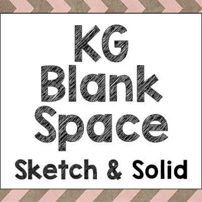 Download KG Blank Space Solid font (typeface)