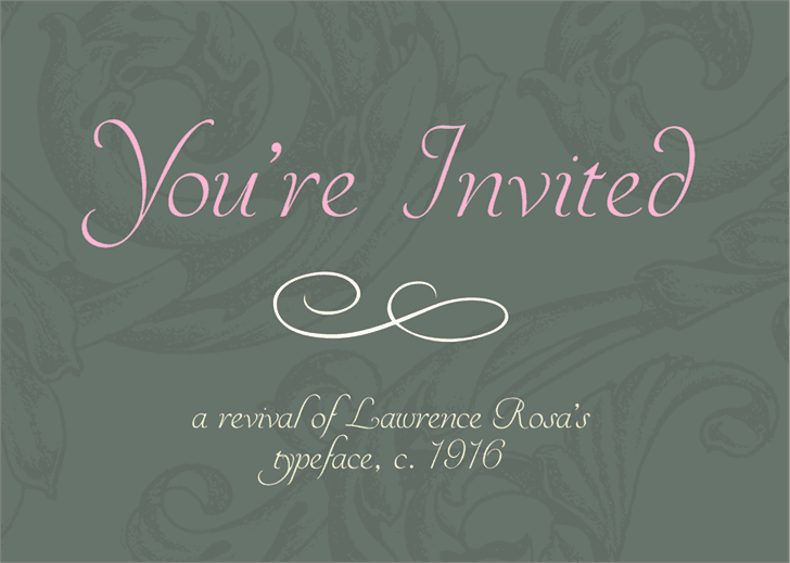 Download YoureInvited font (typeface)