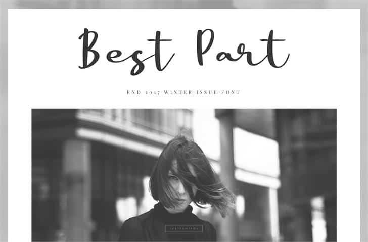 Download Best Part font (typeface)
