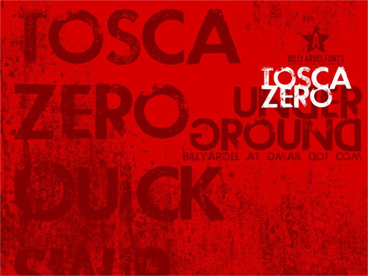 Download TOSCA ZERO font (typeface)