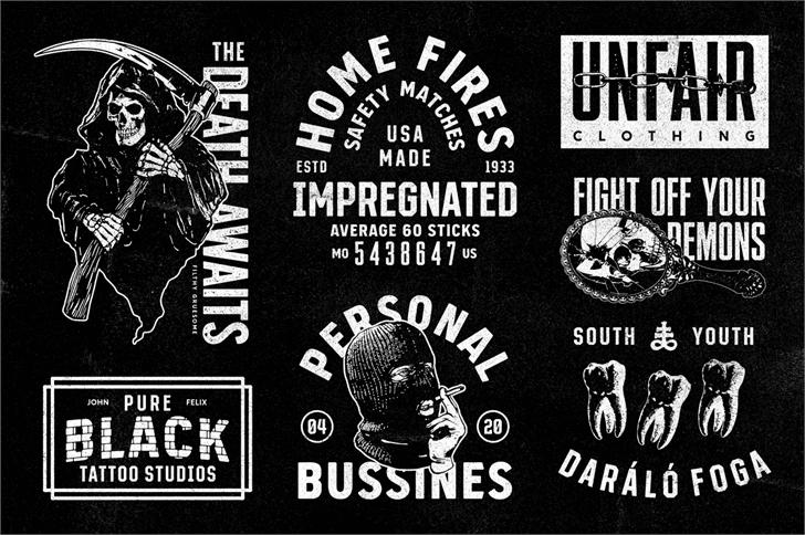Download S&S Grey Hood Seven font (typeface)