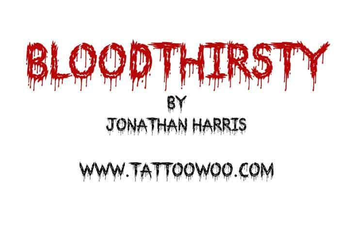 Download Bloodthirsty font (typeface)