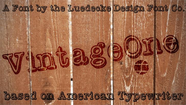 Download Vintage One font (typeface)