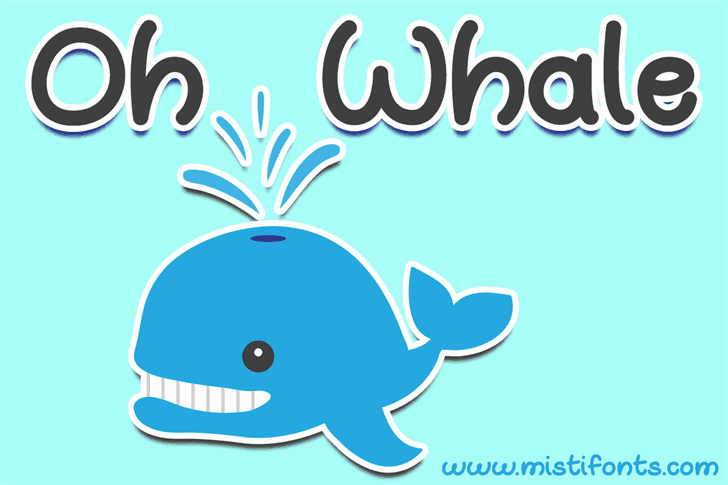 Download Oh Whale font (typeface)