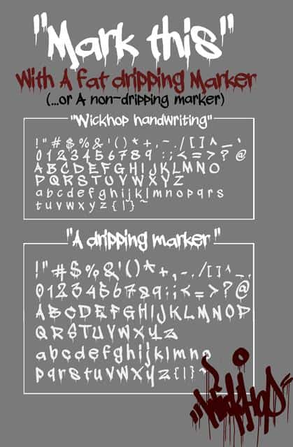 Download A dripping marker font (typeface)