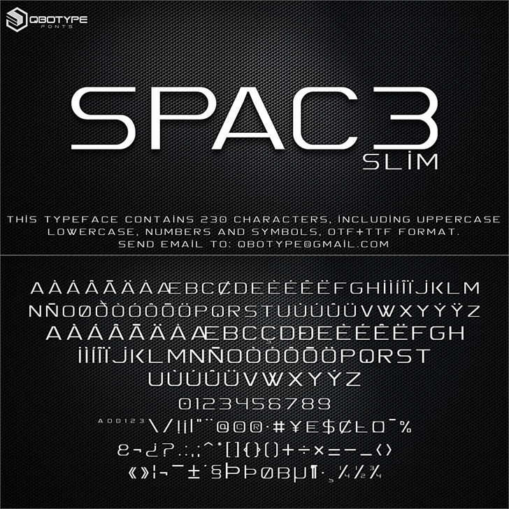 Download Spac3 tech font (typeface)