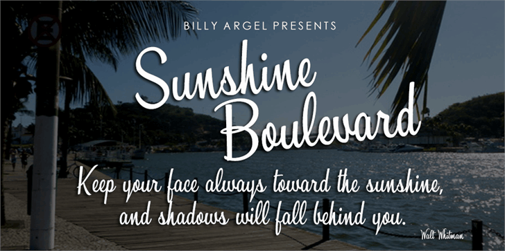 Download Sunshine Boulevard font (typeface)