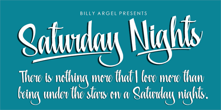 Download Saturday Nights font (typeface)