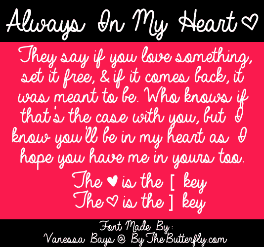 Download Always In My Heart font (typeface)