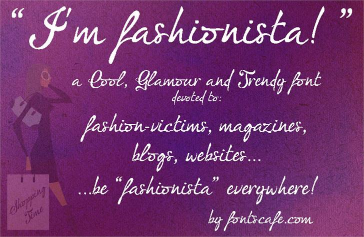 Download I'm fashionista! font (typeface)
