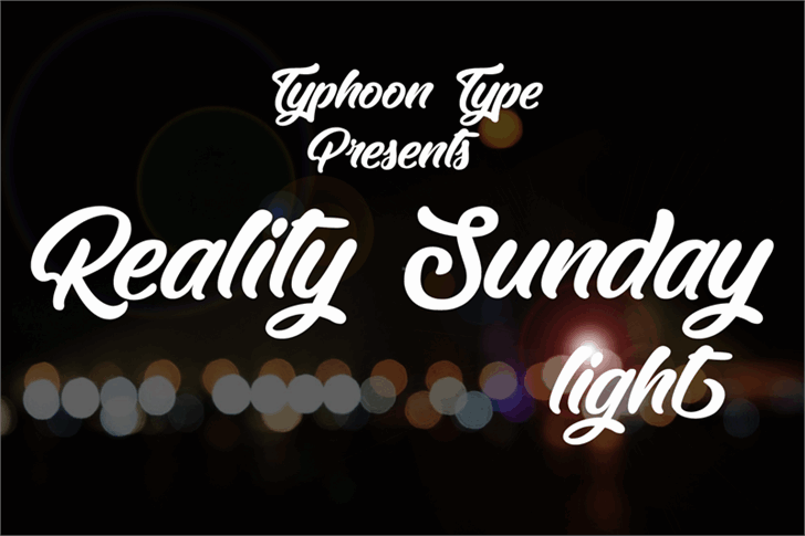 Download Reality Sunday light font (typeface)