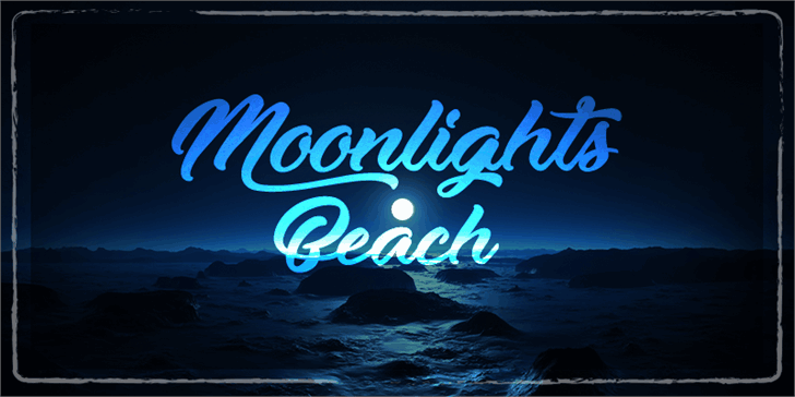 Download Moonlights on the Beach font (typeface)