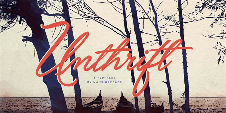 Download Unthrift Personal font (typeface)