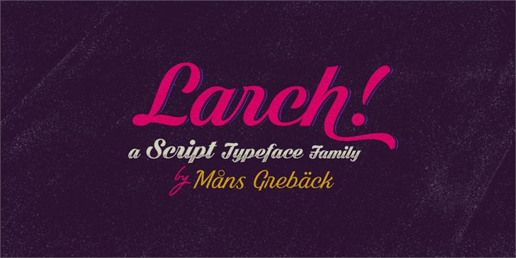 Download Black Larch font (typeface)