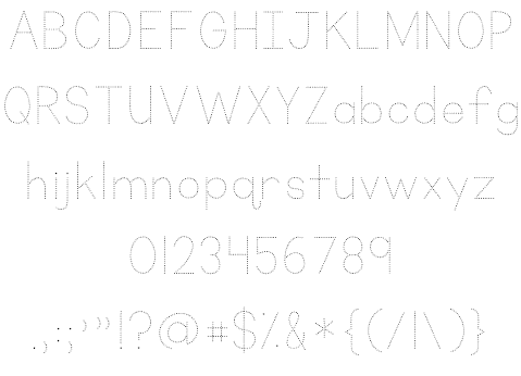 Download KG Primary Dots font (typeface)