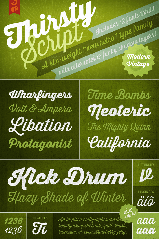 Download Thirsty Script Extrabold font (typeface)
