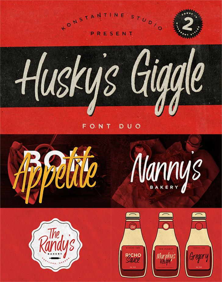 Download Husky Giggle font (typeface)